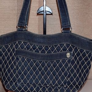 Retired Rare Vera Bradley Quilted Denim